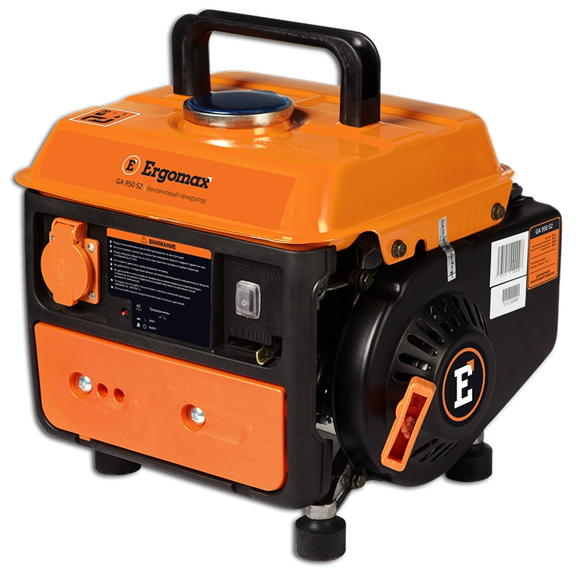 Генератор бензиновый Ergomax GA 950 S2  бензиновый генератор ergomax ga 1200 00000092334