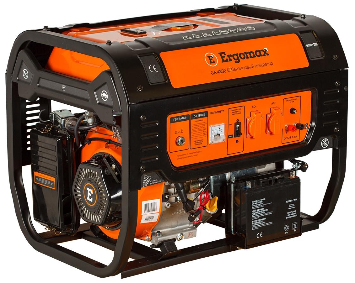 Генератор бензиновый Ergomax GA 4800 Е  бензиновый генератор ergomax ga 1200 00000092334