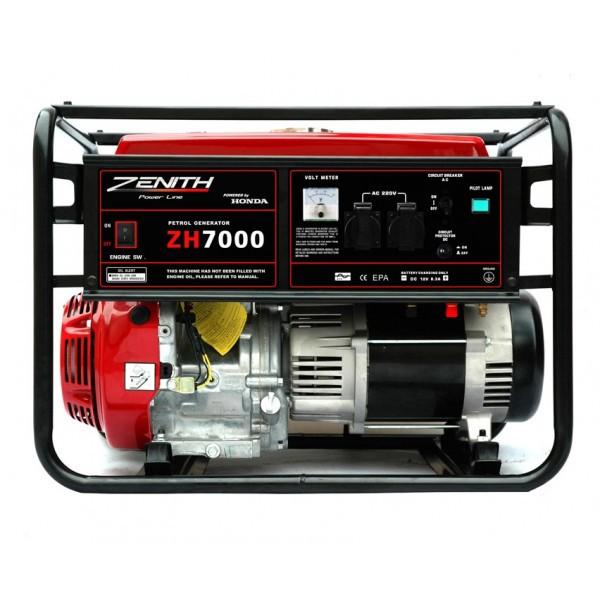 Генератор бензиновый ZENITH ZH7000  генератор бензиновый zenith zh7000 3