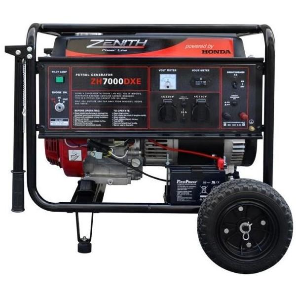 Генератор бензиновый ZENITH ZH7000DXE  генератор бензиновый zenith zh7000 3